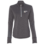 water joe black heather quarter zip