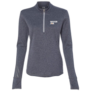 water joe navy heather quarter zip