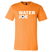water joe orange tshirt