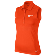 water joe orange sleeveless polo