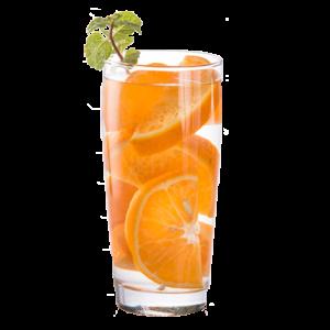 glass of orange slices