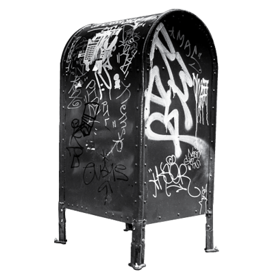 grafitti mail box