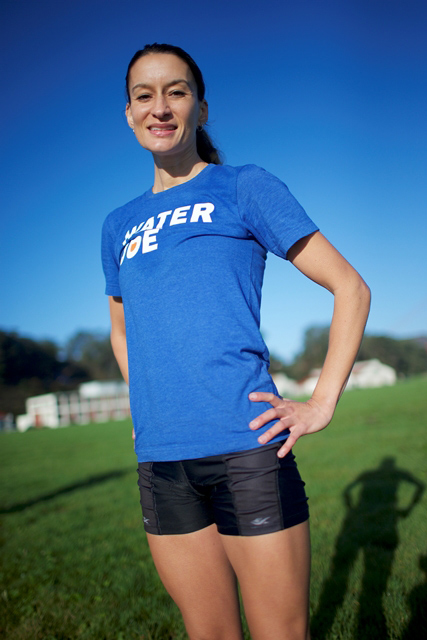 Sarah Hallas in Water Joe tshirt